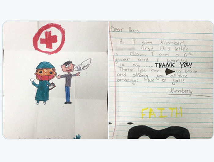 Kids Thank You note and drawing